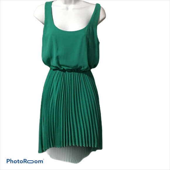 Bebe Dress - Teal Pleated